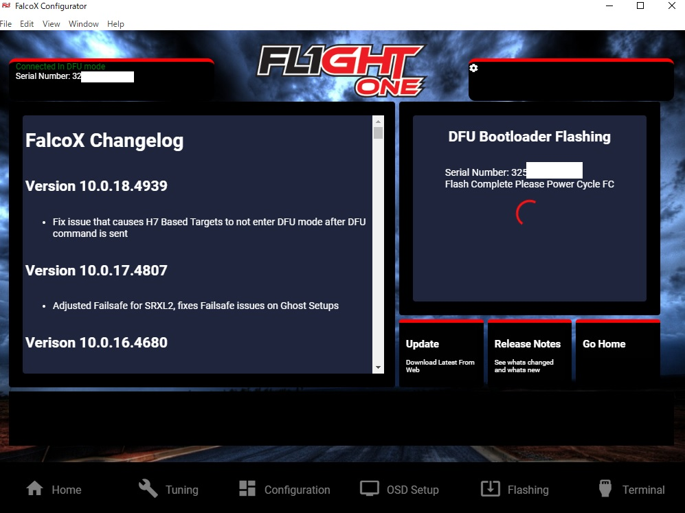 Matek F411にFalcoXを導入!設定までの手順